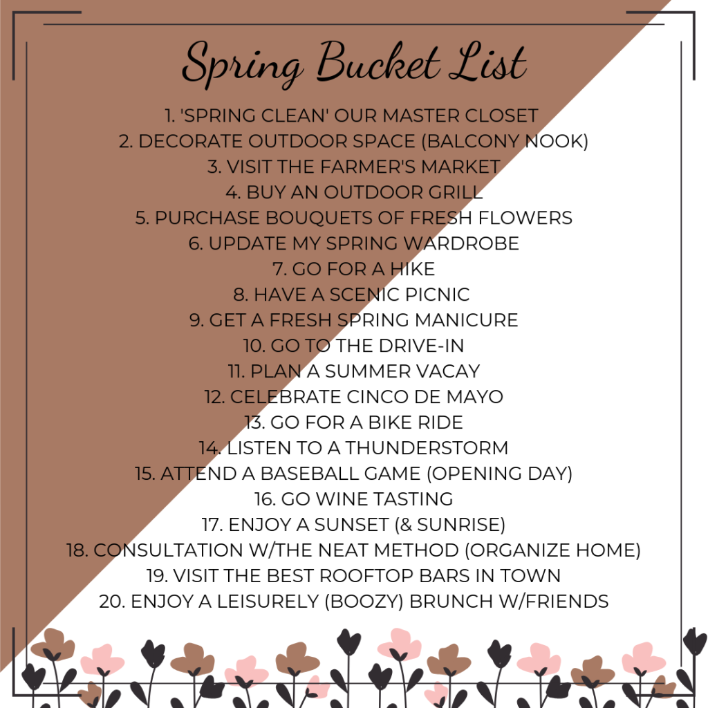 My Spring Bucket List Days Like Today